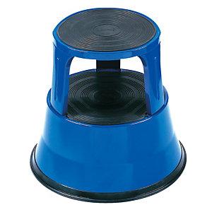 Tabouret marchepied métal bleu