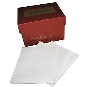 Tabulati a modulo continuo in carta riciclata - Dimensioni 24 x 11'' - Neutri - Grammatura 60 g/mq - Staccabile - Conf. 2000 fogli (confezione 2000 fogli)