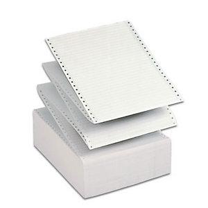 Tabulati a modulo continuo in pura cellulosa, Colore 1/6 grigio, 70 g/m², Staccabile, 2000 fogli 37,5 x 11'' (confezione 2000 fogli)