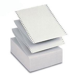 """Tabulati a modulo continuo in pura cellulosa -  Dimensioni 24 x 11"""" - Colore 1/6 grigio - Grammatura 60 g/mq - Staccabile - Conf. 2000 fogli (confezione 2000 fogli)"""