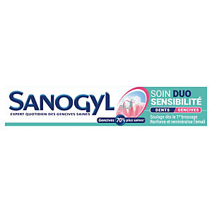 Tandpasta Sanogyl gevoelige tanden, tube van 75 ml