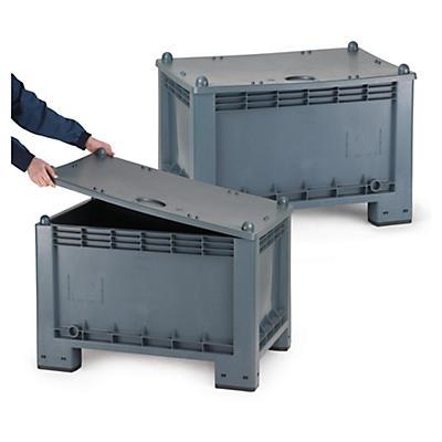 Tapa para contenedor-palet de plástico apilable