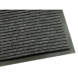 Tapis d'accueil absorbant Linéa 0,60 x 0,90 m gris