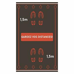 """Tapis """"Gardez vos distances"""" 0.90 x 1.50 m"""
