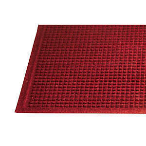 Tapis grattant absorbant Guzzler 0,90 x 1,50 m rouge
