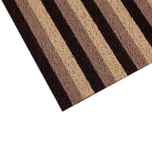 Tapis milieux humides INUCI® en rouleau 1 x 12,5 m, beige/ marron