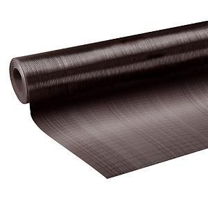 Tapis strié en rouleau 1 x 10 m épaisseur 3 m coloris noir