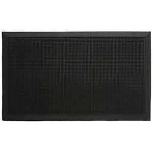 Tappeto per esterni, 100% caucciù, 60 x 80 cm, Nero