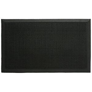 Tappeto per esterni, 100% caucciù, 80 x 100 cm, Nero