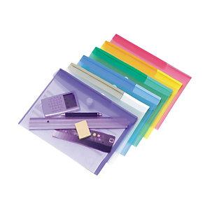 tarifold Sobre con cierre en Scratch, A4 apaisado, colores surtidos