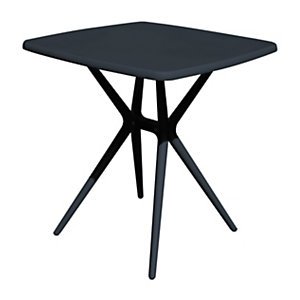 Tavolino da giardino Cloudy, 70 x 70 x 76 cm, Polipropilene e fibra di vetro, Antracite opaco