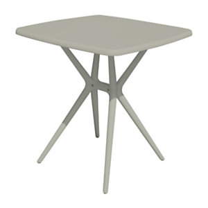 Tavolino da giardino Cloudy, 70 x 70 x 76 cm, Polipropilene e fibra di vetro, Tortora opaco