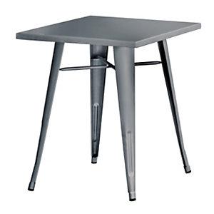 Tavolino da giardino Plate, 60 x 60 x 73 cm, Lamiera galvanizzata, Piombo