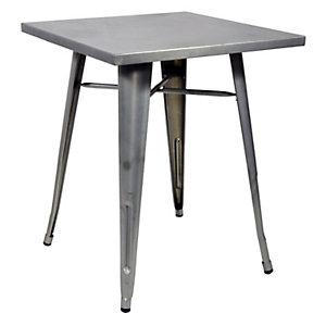 Tavolino da giardino Plate, 60 x 60 x 73 cm, Lamiera galvanizzata, Silver