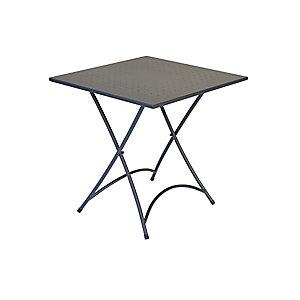 Tavolino pieghevole da giardino Elba, Ferro, Antracite