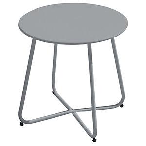 Tavolino rotondo da giardino Provence, ø 45 cm, Ferro epoxy, Grigio