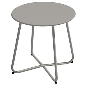 Tavolino rotondo da giardino Provence, ø 45 cm, Ferro epoxy, Tortora