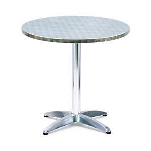 Tavolo da bar rotondo in alluminio