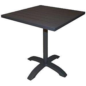 Tavolo da giardino Contract, 70 x 70 x 75 cm, Alluminio, Antracite