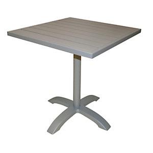 Tavolo da giardino Contract, 70 x 70 x 75 cm, Alluminio, Tortora