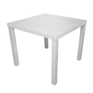 Tavolo da giardino Contract, 80 x 80 x 75 cm, Alluminio, Bianco