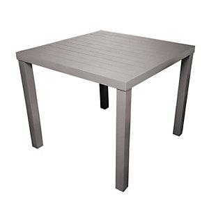 Tavolo da giardino Contract, 80 x 80 x 75 cm, Alluminio, Tortora