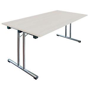 Tavolo pieghevole, 140 x 80 x 72 cm, Grigio