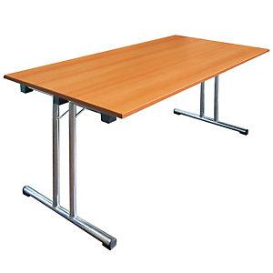 Tavolo pieghevole, 140 x 80 x 72 cm, Noce chiaro