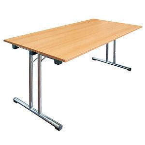 Tavolo pieghevole, 160 x 80 x 72 cm, Faggio