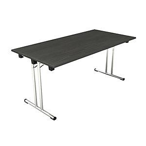 Tavolo pieghevole, 160 x 80 x 72 cm, Nero venato