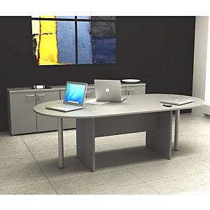 """Tavolo riunione ovale """"Linea Pronto"""" - cm 220 x 110 x 72 h. - Grigio"""