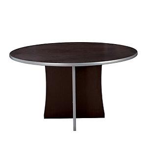 Tavolo riunione rotondo Linea Vertigo, 125 diam x 72 cm, Wenghè