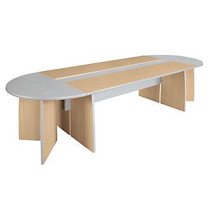 Tavolo riunioni Linea Avantis, 310 x 110 x 72 h cm, Acero