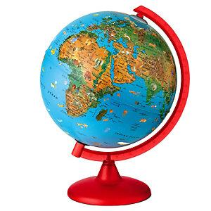 Tecnodidattica Globo geografico illuminato Zoo Globe - diametro 26 cm - Tecnodidattica