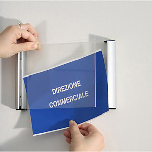TECNOSTYL Porta targa appendibile Wall Sign - A4 - 21x30 cm - Tecnostyl
