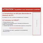 Temperaturindikator etikette KOLD