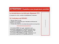 Temperaturindikator etikette VARM