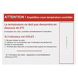Temperaturindikatoretikette KOLD