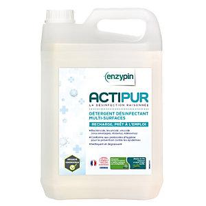 Détergent désinfectant multi-surfaces écologique PAE HACCP Enzypin Actipur 5 L