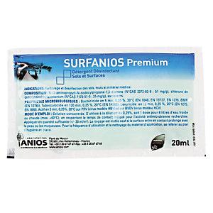 Détergent désinfectant Surfanios premium Anios, 500 doses de 20 ml