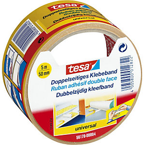 tesa® Bande double face universelle, blanc, 50 mm x 5 m 56170