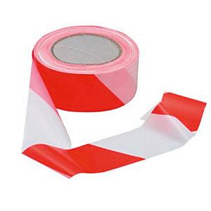 tesa® Cinta adhesiva de señalizacion roja y blanca