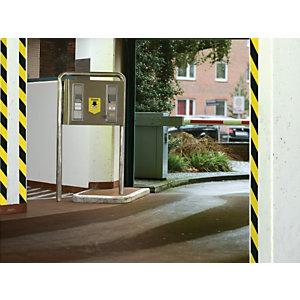 tesa® Cinta adhesiva de señalización universal de advertencia polipropileno amarillo y negro 50 mm x 66 m 58133