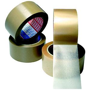 tesa® Cinta de Embalar PVC Extrafuerte Desenrrollado silencioso, 50 mm x 66 m, Marrón
