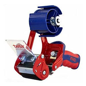 tesa® COMFORT 06400 Dispensador de cinta manual, azul y rojo