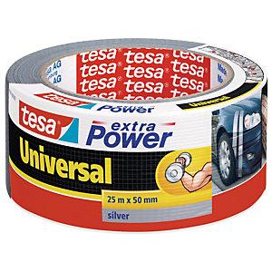 tesa® Extra Power Universal Cinta adhesiva, 50 mm x 25 m, Plata