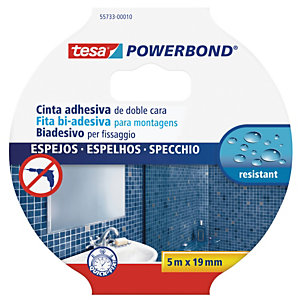TESA Nastro biadesivo per specchi Tesa® Powerbond - 5 mt x 19 mm - bianco - Tesa®