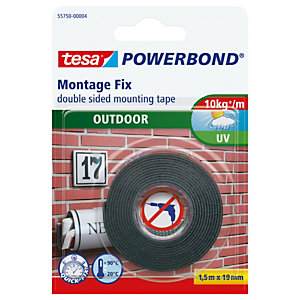 TESA Nastro biadesivo Tesa® Powerbond - per esterni - 19 mm x 1,5 mt - bianco - Tesa®