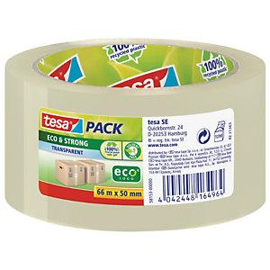 tesa® Nastro da imballo Eco PACK, 50 mm x 66 m, PP, Trasparente