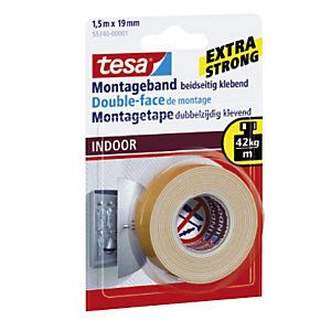 tesa® Powerbond® INDOOR Nastro biadesivo per montaggio Bianco 19 mm x 1,5 m 55740